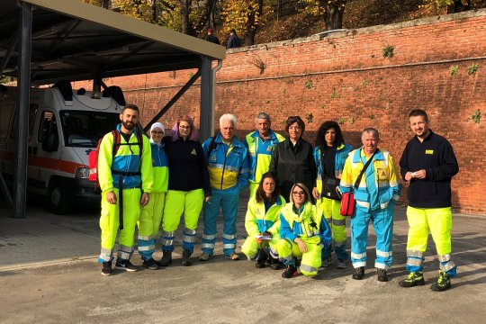 Volontari in servizio per la Sagra delle Castagne